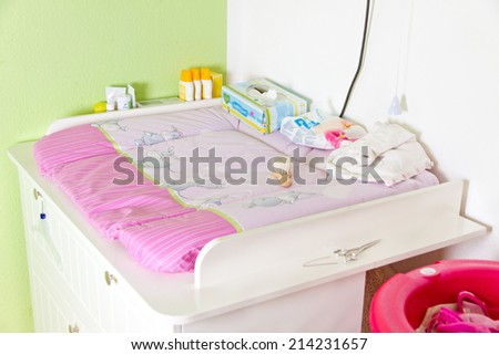 Baby changing commode - stock photo