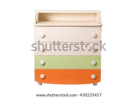 baby changing table and dresser - stock photo