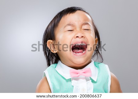 Baby cry - stock photo