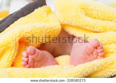 Baby feet - stock photo