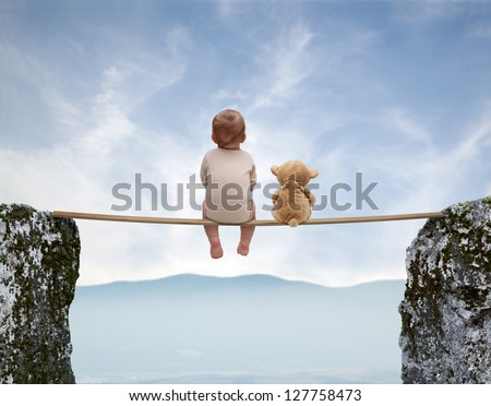 Baby games 6 - stock photo