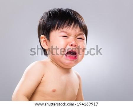 Baby get hurt - stock photo