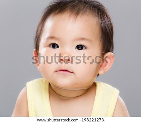 Baby girl close up - stock photo