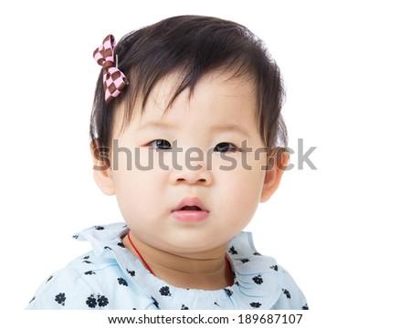 Baby girl portrait - stock photo
