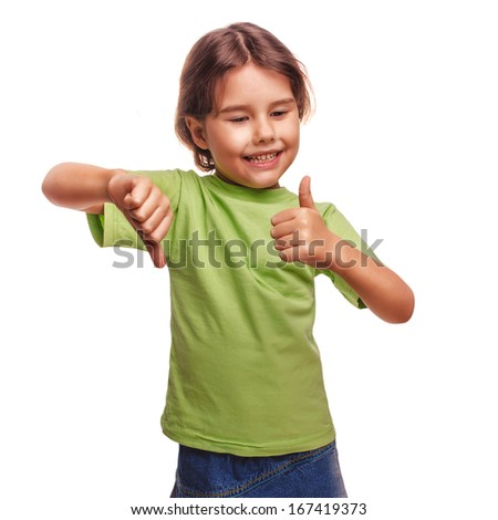 baby happy little girl shows sign yes no gesture isolated on white background emotions - stock photo