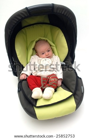 baby in car seat - stock photo