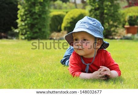 Baby in Park - stock photo
