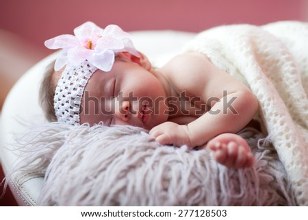 Baby is sleeping - stock photo