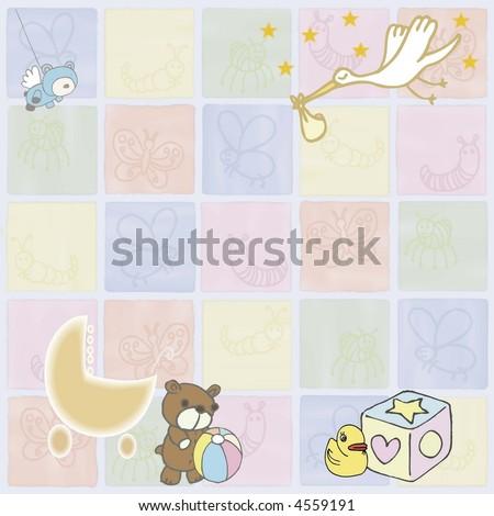 Baby items - stock photo