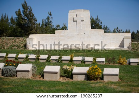 Baby 700 military cemetery in Gallipoli, Turkey - stock photo