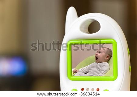 Baby monitor - stock photo