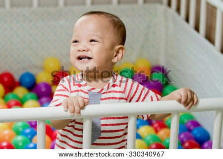 baby of smile - stock photo
