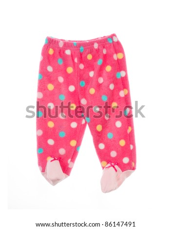 Baby pants. Isolated on white, close up. - stock photo