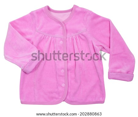 Baby pink loose jacket isolated on a white background - stock photo