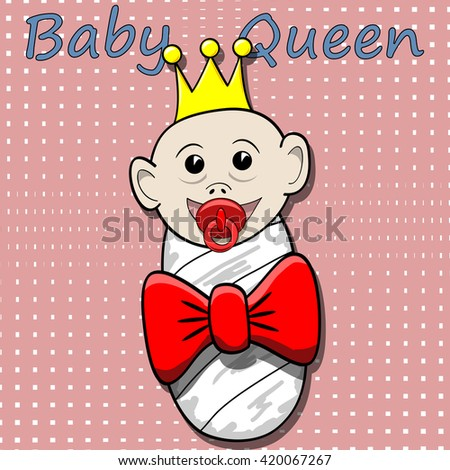 Baby Queen-illustration - stock photo