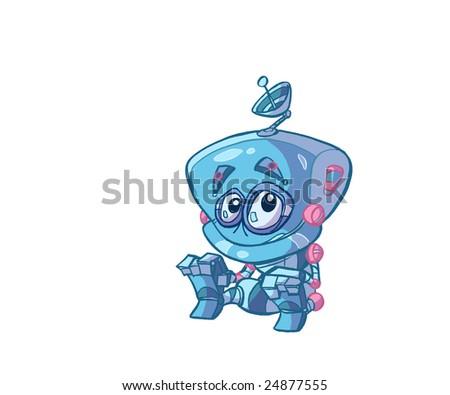 baby robot - stock photo