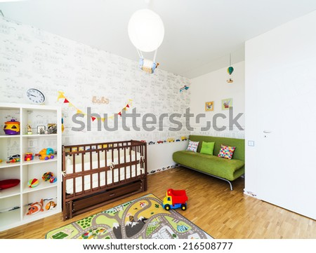 Baby's bedroom - stock photo