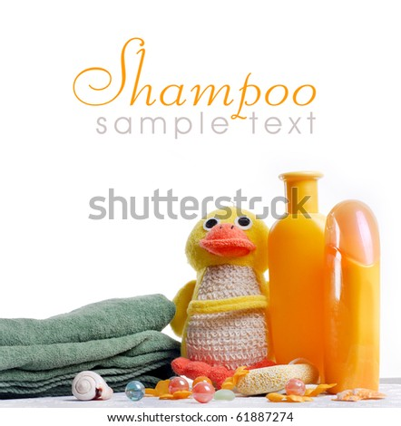 baby shampoo - stock photo