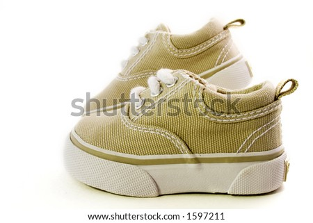 Baby shoes isolated on a white background - stock photo