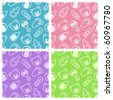 Baby shower set of seamless patterns. - stock photo