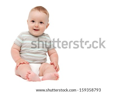 baby smiling - stock photo