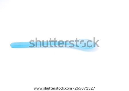 Baby spoon isolated on white. - stock photo