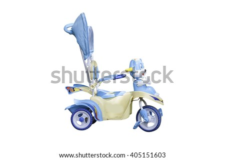 baby stroller isolated on white.  This has clipping path - stock photo