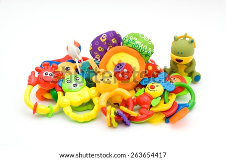 baby toys - stock photo