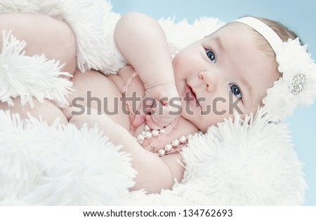 baby with accessories - stock photo