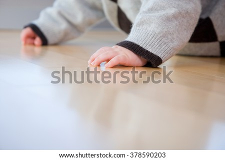 babys hands - stock photo