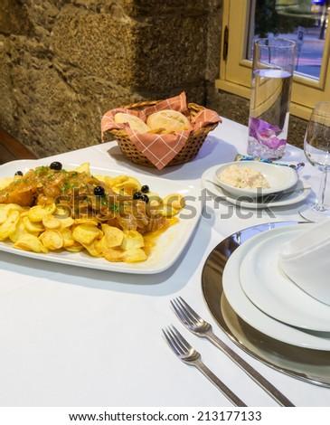 Bacalhau Recheado, Traditional Portuguese Food - stock photo