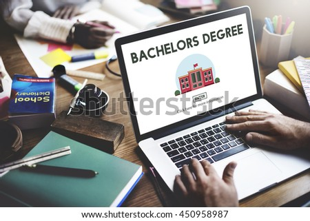 Bachelors Degree Admission School Education Concept - stock photo