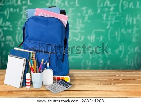 Back, background, backpack. - stock photo
