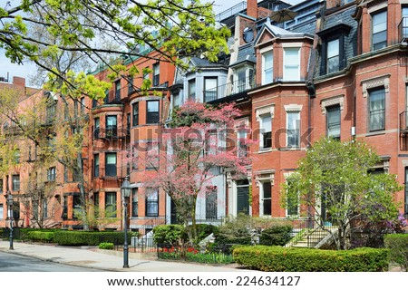 Back Bay, Boston Apartments - stock photo