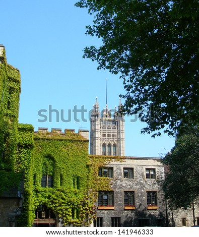 Back entry  view of Westminster Abbey, London, UK - stock photo