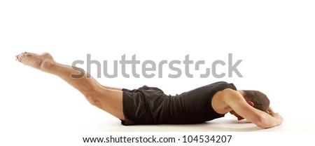 Back Exercise - stock photo