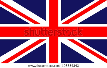 back ground of a british flag - stock photo
