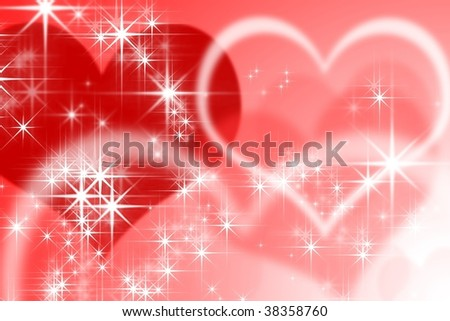 Back ground of heart - stock photo