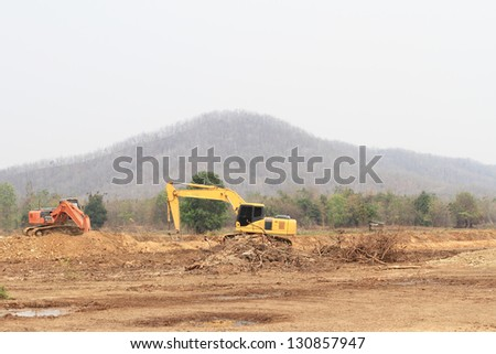Back Hoe at Construction site - stock photo
