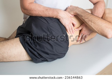 Back massage - stock photo