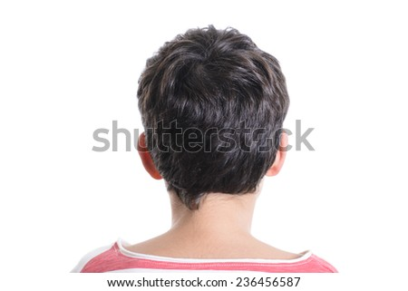 Back of a boy - stock photo