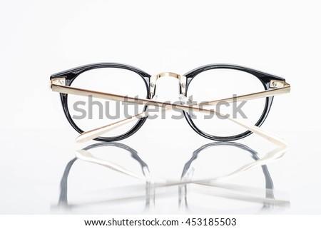 Back of beautiful eyeglasses - stock photo