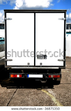 Back of Delivery or Moving Truck - stock photo