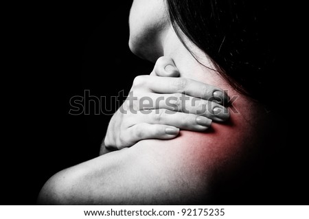 back pain - stock photo