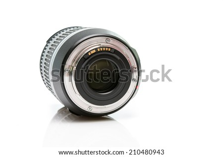 Back side dslr lens - stock photo