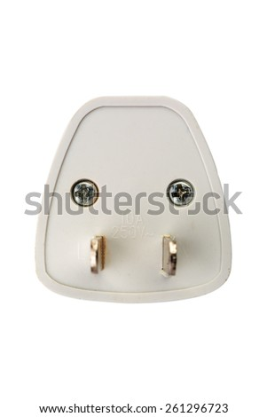 back side of electric power plug - stock photo