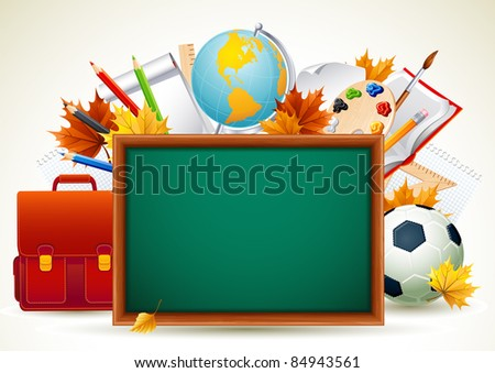 Back to school background (raster version) - stock photo