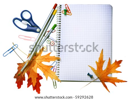 Back to School concept design.Stationery. - stock photo