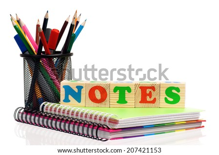 Back to school concept - office and student accessories - stock photo