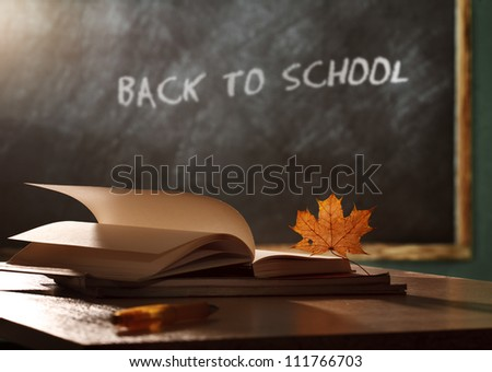 Back to school concept still life - stock photo